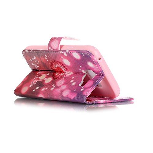 Lederhülle Hülle Tasche Schutzhülle für Apple iPhone 5 5SE - Yihya PU Leder Bookstyle Flip Case Wallet Cover Handyhülle Etui mit Muster Design und Standfunktion + Stift - Stil 11 Stil 07