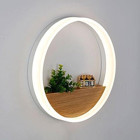 Lampe Murale Led Rond Salon Salle À Manger Étude Chambre Chambre Simple Décoration Moderne Géométrique Bague Tête De Lit Lampe De Mur 20Cm