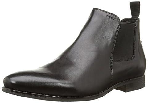Geox U ALBERT 2FIT I, Herren Chelsea Boots, Schwarz (BLACKC9999), 42 EU (8 Herren UK)