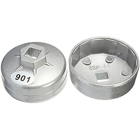 65 millimetri 14 flauto presa chiave per filtri olio tappo in alluminio di (14 Millimetri Chiave)