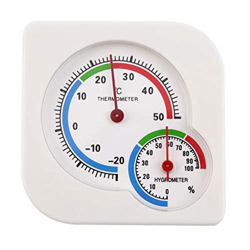 XQxiqi689sy 2-in-1 Gourd Indoor Desktop Thermometer Hygrometer Temperatur Luftfeuchtigkeit Meter Einheitsgröße weiß -