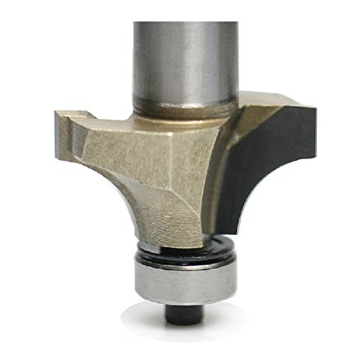 "SHINA Industry Quality HSS Round Over Edging Router Bit - 3/4"" Diameter - 1/2"" Shank"