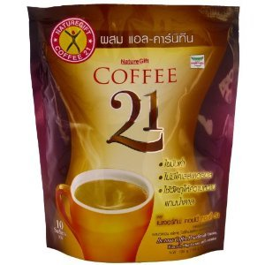 3 pack Naturegift Instant Coffee Mix 21 Plus L-carnitine Slimming Weight Loss Diet 135g (10 sachets) free shipping low price from Naturegift