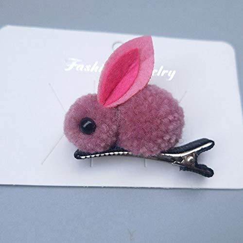 e Kaninchen Haarspangen Für Mädchen Fühlte Plüsch Haarnadeln Katze Ohren Bunny Barrettes Kinder Haarschmuck Headwear (Color : Red) ()
