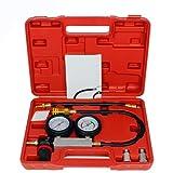 0-100PSI Doble Gasolina Gas Motor Cilindro Compresor Calibre Medidor Prueba Presión Compresión Tester Fuga Herramienta De Diagnóstico