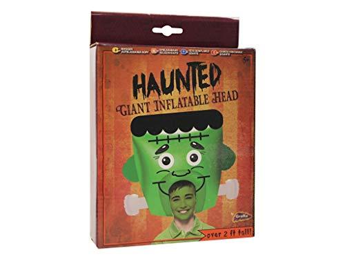 Grafix Aufblasbarer Frankenstein-Kopf - lustiges Halloween-Kostüm