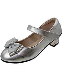 Enfants Filles Fermeture Scratch Fête D'enfants Talons Demoiselle D'honneur Verni Fancy Chaussures