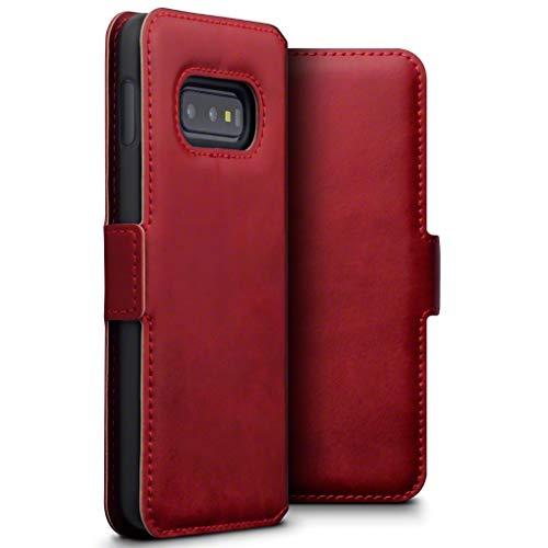 Terrapin, Kompatibel mit Samsung Galaxy S10e Hülle, Premium ECHT Spaltleder Flip Handyhülle Galaxy S10e / Galaxy S10 Lite Tasche Schutzhülle - Rot