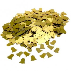 Gold Bells Table Confetti