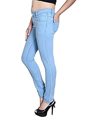 Blinkin Ice Blue Denim Jeans For Women Girls (stretchable Denim Fabric)