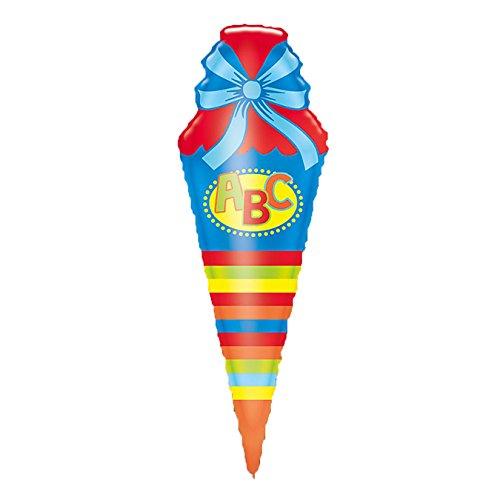 Amscan 3160401 - Folienballon Schultüte, Spiel - 3