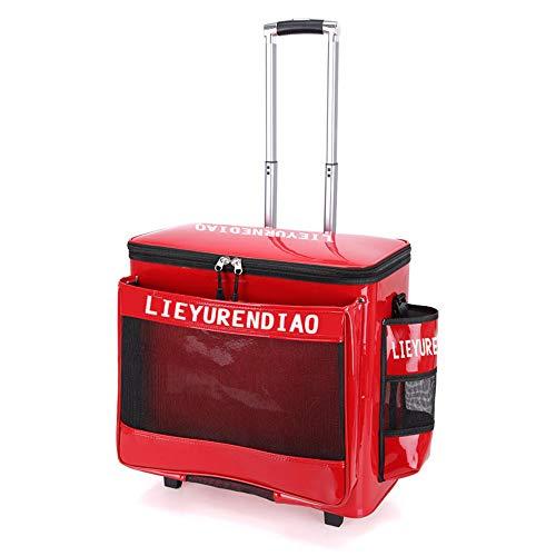 Portátil de pesca caja de almacenamiento llevar maleta Trolley bolsa Tackle asiento cajas pesca cubo Tackle bolsa para mar barco pesca accesorio caja caso-51 * 27 * 51cm