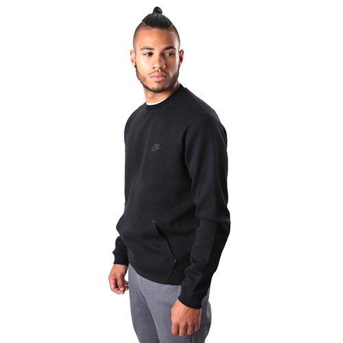Nike Tech Fleece Crew Felpa Black/Black/Black/Black