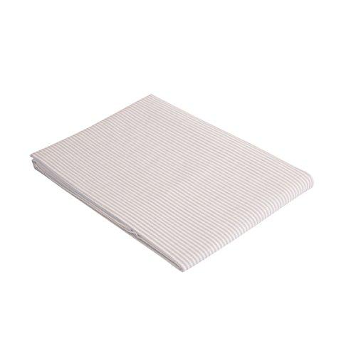 """Vaitkute 210046 Halbleinen Tischdecke """"Streifen"""" 140 x 140 cm, mit Briefecken, 50% Leinen und Baumwolle, 60 Celsius waschbar, 210 g / m2, weiß / himmelblau gestreift"""
