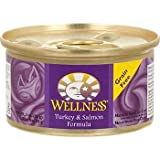 WELLNESS CAT FOOD TRKY & SALMON, 3 OZ