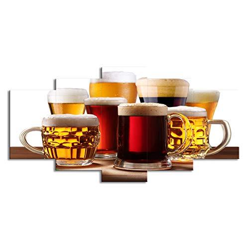 ChuangYing 5 Bier Cup Getränke Aufkleber Restaurant Bar nach Hause Wanddekoration Wandtattoo (Wandtattoo Getränke)