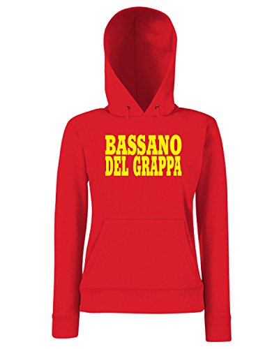 T-Shirtshock - Sweats a capuche Femme WC0918 BASSANO DEL GRAPPA ITALIA CITTA STEMMA LOGO Rouge