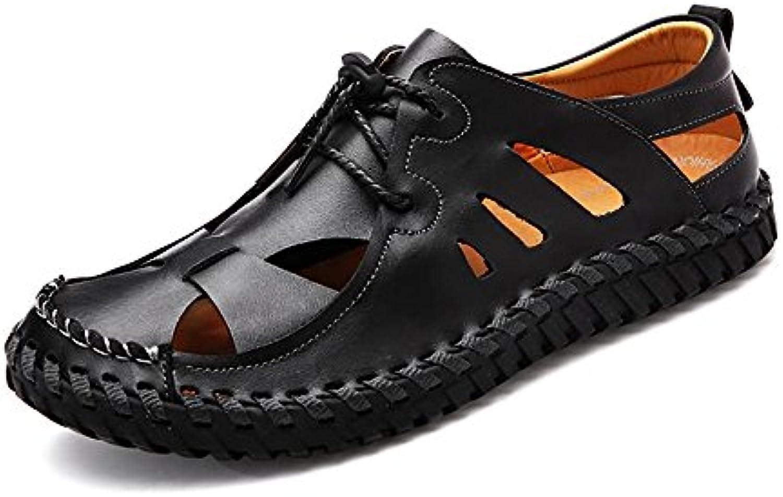Jiuyue-scarpe, Sandali piatti alla moda da uomo con cinturino alla caviglia,Scarpe da uomo. (Coloree   Nero, Dimensione... | Fine Anno Vendita Speciale  | Scolaro/Ragazze Scarpa