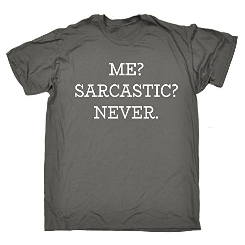 123t Men's Me Sarcastic Never T-Shirt Funny Christmas Casual Birthday Tee