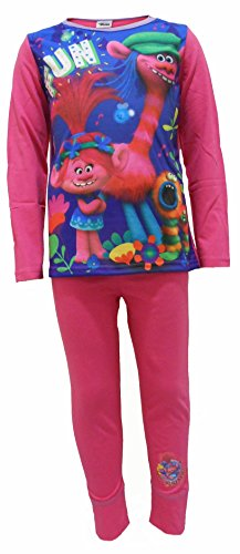 Trolls Pijama para niñas (7-8 Años)