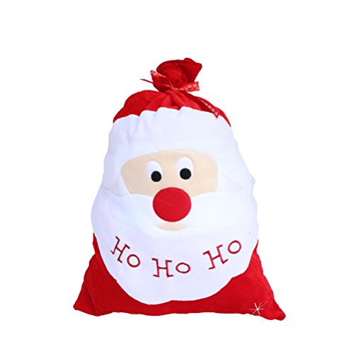 Tinksky Decoración Navidad Santa Gran Saco almacenamiento