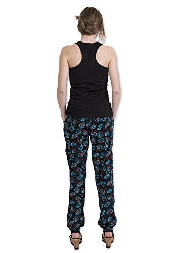 Coton Du Monde - Pantalon LEXY Imprimé 29 Noir Multicolore