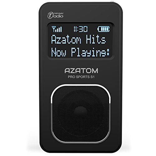 Pro Sports S1 DAB Digital Portable FM Radio: Azatom Pro Sports S1 – DAB DAB+ & FM – Built-in Rechargable Battery (Upto 20 Hours Playtime) – Compact – Built-in Speaker – Earphones included – Premium Quality – Future Ready
