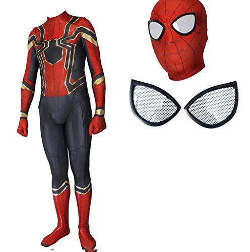 TOYSSKYR Iron Spider-Man Rehabilitation 3 Cosplay Kostüm Elastische Strumpfhose Film Spiel Kostüme (Farbe : BLACK-3, größe : - Black Iron Spiderman Kostüm
