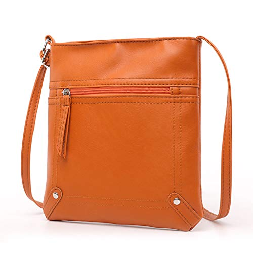 TianWlio Damen Klassische Handtasche Leder Handtasche Satchel Cross Body Reißverschluss Umhängetasche Kuriertasche Handtasche Winged Schultertasche Groß Umhängetasche Taschen…