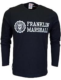 Franklin & Marshall VA225 cuello redondo manga larga Negro Camiseta