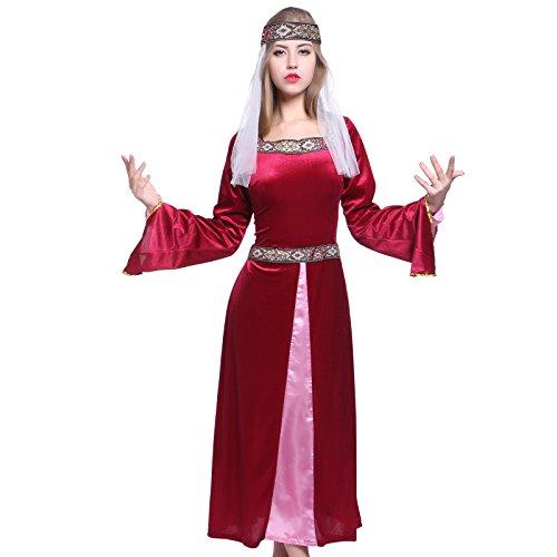 Robin Hood Maid Marian Marion Kostuem Burgfraeulein Kleid Mittelalter Magde Tudor Kleid Fasching Halloween Karneval (Marian Und Hood Robin Maid)