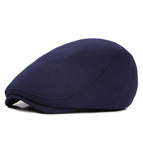 ZLS Retro Unisex Golf Ivy Driving Baret Newsboy Cabbie Caps Hats for Men - Blau - Einheitsgröße