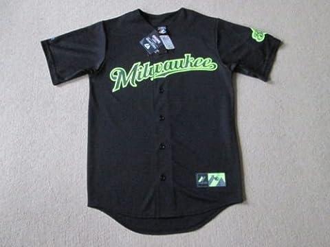 Milwaukee Brewers MLB Baseball Limited Edition Jersey–braun # 8–Herren Kleine NWT,