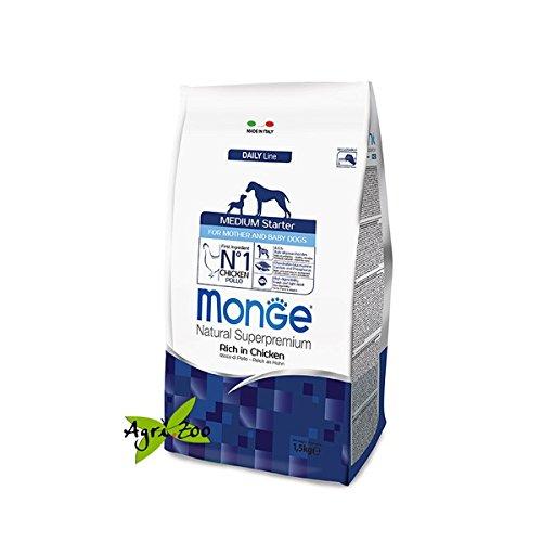 Monge Medium Starter 1,5 Kg ALIMENTO COMPLETO PER madre e cucciolo DI TAGLIA MEDIA