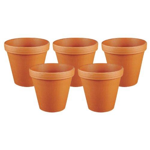 Unbekannt Spang 001-001-06 'Traditioneller Roter Ton' Spang Blumentopf, Ton, rot, natur, außen Ø 7,0cm, innen Ø 6,2cm, terracotta (5 Stück)