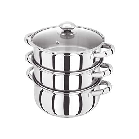 Judge 20cm 3 Tier Stainless Steel Steamer With Lid