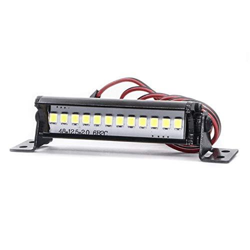 Lynn025Keats Light Bar Light Emitting Diode Scheinwerfer LED-Lampen-Dekoration Modell Zubehör für 1/10 RC Car Crawler D90 Traxxas TRX4