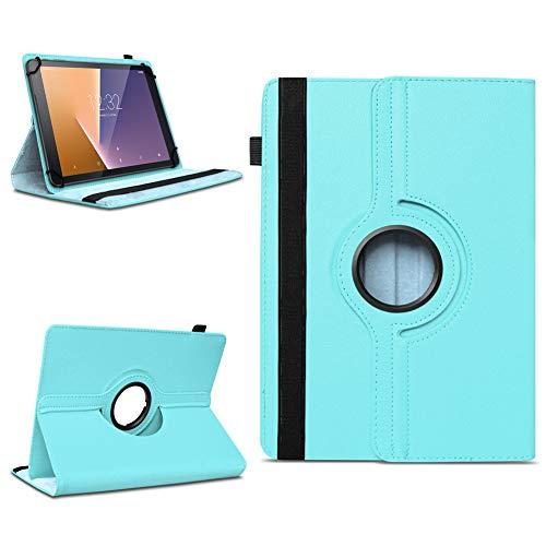 Tasche für Vodafone Tab Prime 7 Tablet Hülle Schutzhülle Case 360° Drehbar Cover, Farben:Türkis