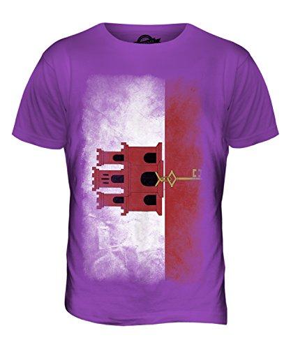 CandyMix Gibraltar Verblichen Flagge Herren T Shirt Violett