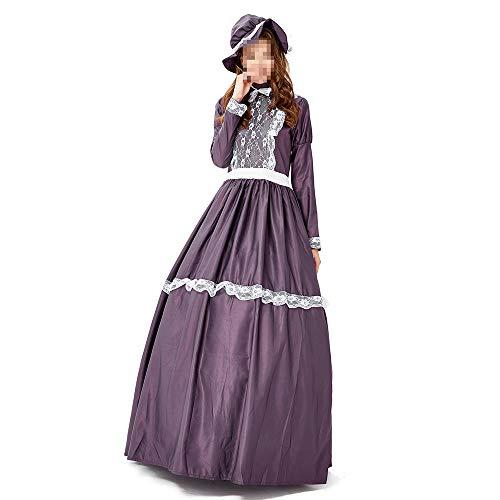 Dunkle Kostüm Mönch - YyiHan Halloween Kostüm, Outfit Für Halloween Fasching Karneval Halloween Cosplay Horror Kostüm,dunkle Lila Kleid Retro-palast Prinzessin-Parteikleid Landmaschinen