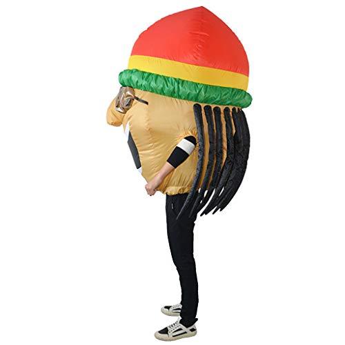 Baoblaze Jamaikanisches Kostüm Aufblasbares Kostüm Luft Anzug Fatsuit Cosplay für Jede - Fat Suit Luft Kostüm