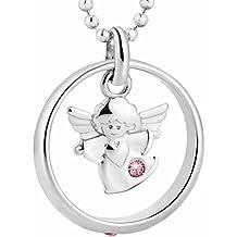 fish Bimba Bambina argento Collana Argento Ciondolo Angelo custode anello per battesimo rosa custodia per gioielli, idea regalo bimbi bimbe