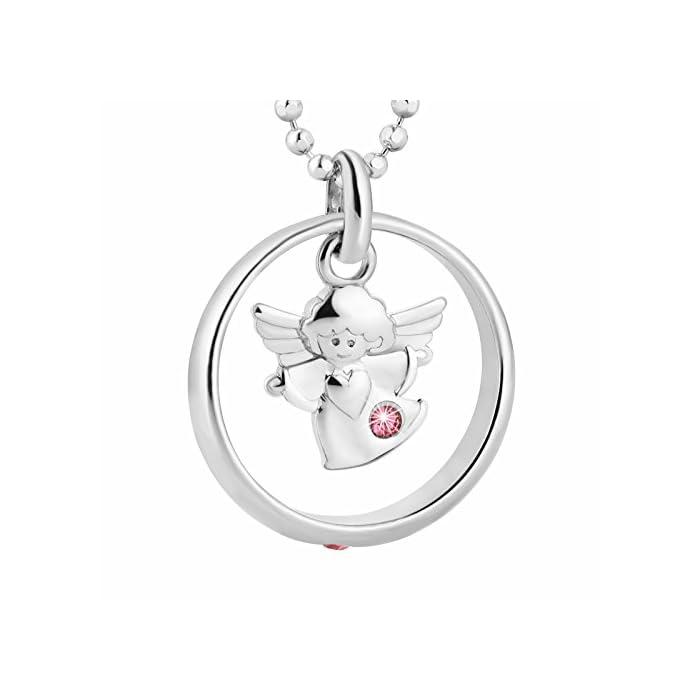 fish Mädchen Taufring Sterling-Silber 925 Taufkette Rosa Geschenkverpackung Taufe Geschenk