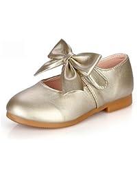 04b2e2b878525e Wuyulunbi  Mädchen Kinderschuhe Frühling Herbst Komfort Ballerina Flower  Girl Schuhe hellen Sohlen Wohnungen bowknot Magic…