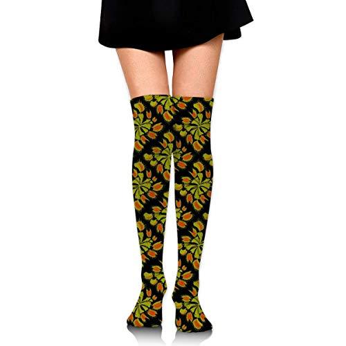cvbnch Kniestrümpfe lange Socken Venus Fly Trap Knee High Socks Fun Crazy Cute Best Long Socks,Running Athletic Sports Boot Stocking