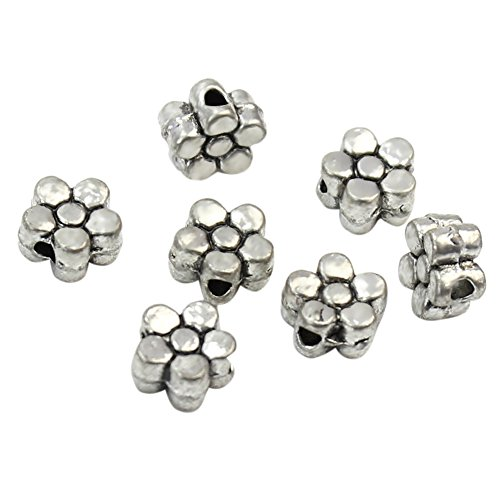 Lot de 100 Perles Intercalaires Fleur DIY Collier Bracelet Bijou DIY