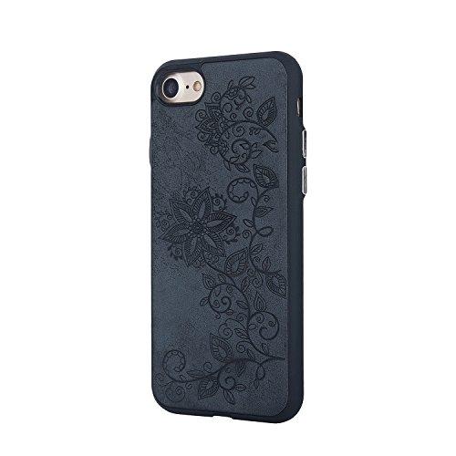 JIALUN-étui pour téléphone Housse de protection en relief pour téléphone portable pour iPhone 7 ( Color : Black ) Black
