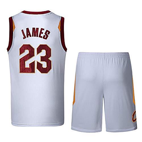 NBA Basketball Jersey NBA Lebron James Basketball-Anzug Nr. 23 Lakers Jersey Basketballtrikot Sport Retro Gym Weste Sport T-Shirt NBA Männer T-Shirt (James White Jersey Lebron)