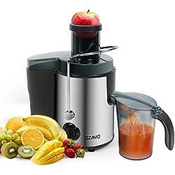 OZAVO Centrifugeuse Extracteur de Jus, Centrifugeuse Fruits et Légumes 400W avec Large Bouche, en Acier Inoxydable de Qualité Alimentaire, Juice Fountain Sans BPA, Double Vitesses Anti-Goutte