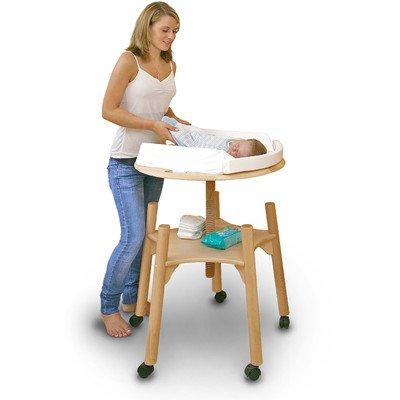 Preisvergleich Produktbild babytwist weiß lackiert inkl. Wickelauflage und Rollen